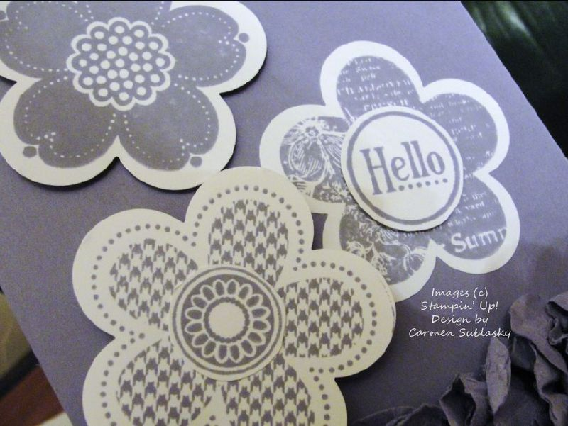 Posy Punch Card Close Up